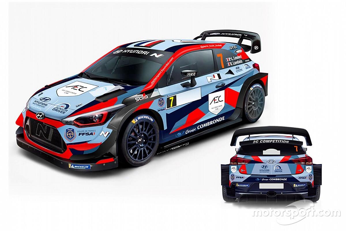 Ecco la livrea della Hyundai Plus con cui Loubet esordirà nel WRC