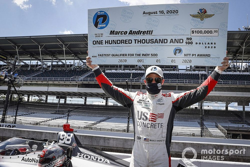 Marco Andretti signe la pole des 500 Miles d'Indianapolis