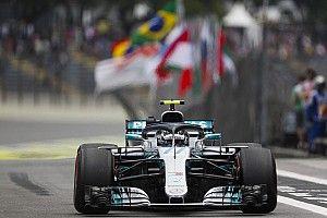 巴西大奖赛FP2:博塔斯居首位,领先汉密尔顿0.003秒