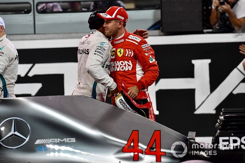 Vettel y Hamilton se deshacen en elogios al acabar un intenso año 2018