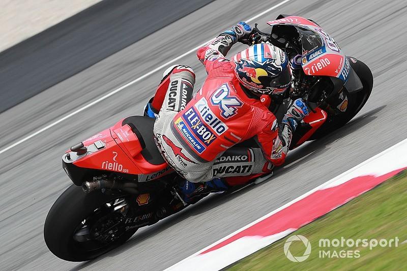 Dovizioso manda en el inicio en Malasia y Lorenzo en último