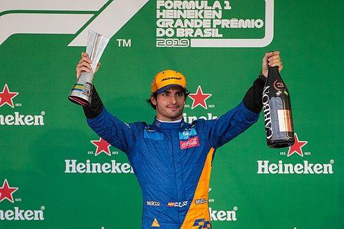 塞恩斯收获个人F1生涯首个领奖台成绩
