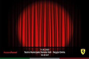 Ferrari F1: la presentazione in teatro a Reggio Emilia