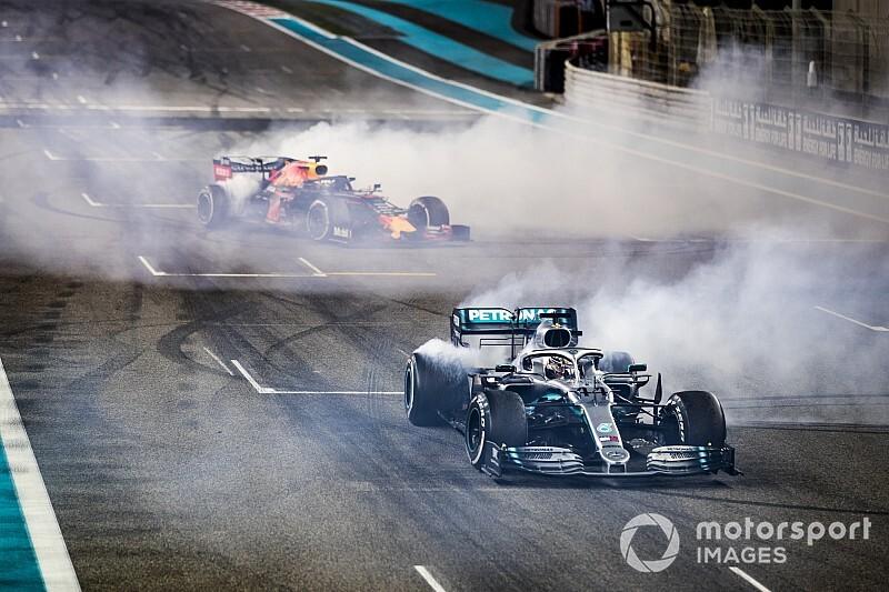 Quand Hamilton, Verstappen et Leclerc fêtent 2019 en donuts