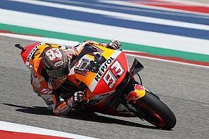 Marquez ancora in pole ad Austin davanti ad un super Rossi, Dovizioso solo 13°