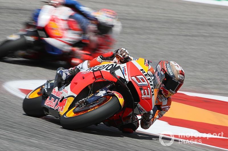 MotoGP, Austin, Warm-Up: Marquez detta ancora legge, ma Dovizioso rialza la testa