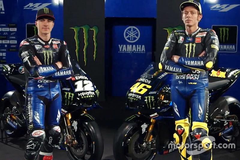 Yamaha presenta la M1 de Rossi y Viñales y su rompedora decoración