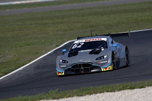 L'Aston Martin DTM de R-Motorsport poursuit son développement au Lausitzring