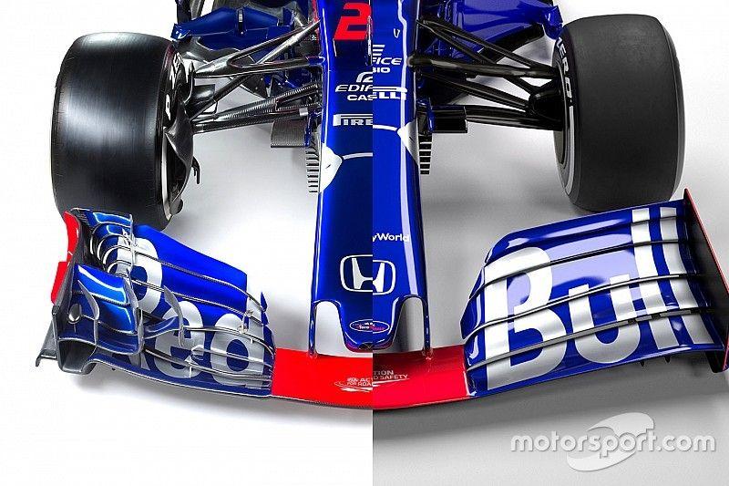 Comparación interactiva de los Toro Rosso 2018 y 2019