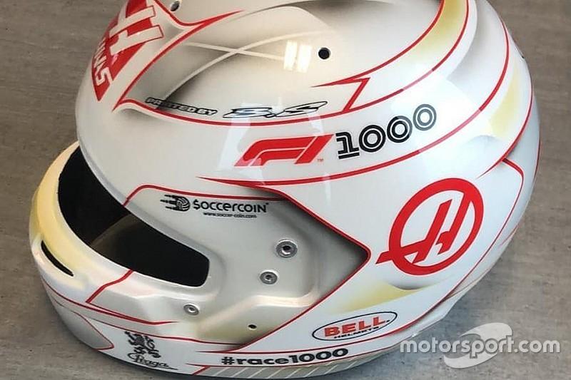 Grosjean, Çin'de 1000. yarışa özel bir kaskla yarışacak