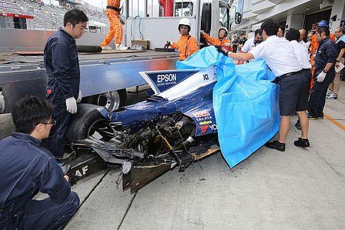 中嶋大祐、フリー走行のクラッシュでマシンにダメージ。決勝出走断念