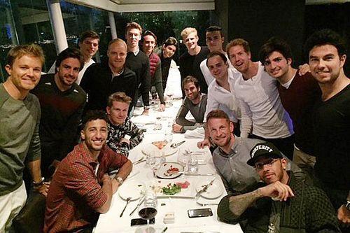 I piloti di F.1 a cena a Shanghai per una riunione della GPDA