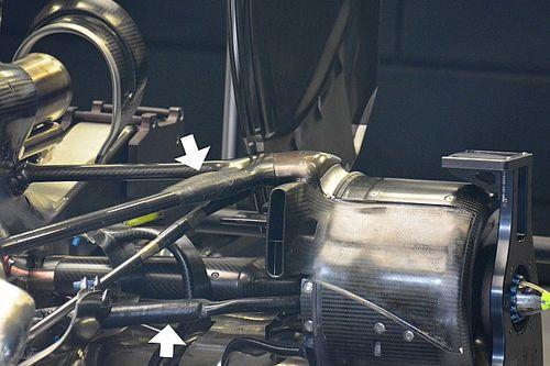 Mercedes' strengthened rear suspension revealed