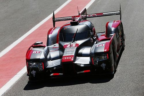Audi on second and third rows at Spa