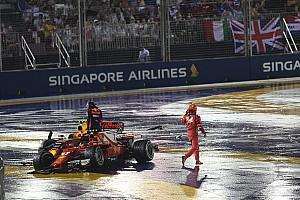 Verstappen culpa a Vettel del accidente en Singapur