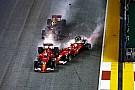 GALERI: Duo Ferrari-Verstappen tersingkir selepas start