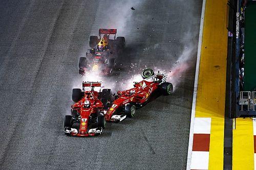 GALERIA: Confira acidente de Vettel, Verstappen e Raikkonen