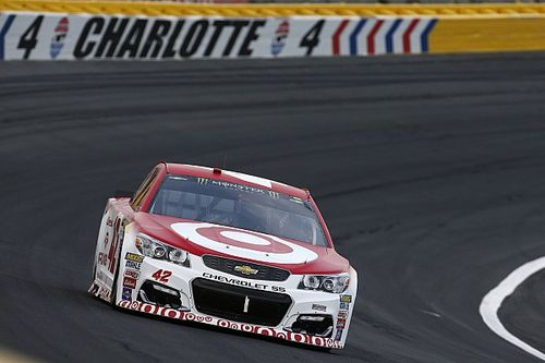 "Larson: ""I used Johnson up a little bit"" to take second in All-Star Race"