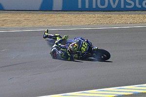GALERI: Rossi terjatuh di lap terakhir MotoGP Le Mans 2017
