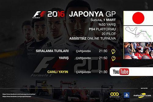 F1 2016 online turnuva: Japonya GP - Canlı Yayın