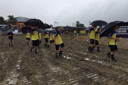 Regenval teistert WK motorcross: Herlings rijdt tweede tijd