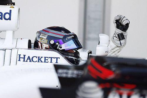 """No pódio aos 18 e no 8º GP, Stroll celebra: """"sem palavras"""""""