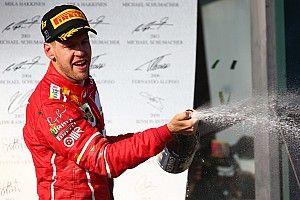 """Feliz, Vettel comemora triunfo """"inacreditável"""" na Austrália"""