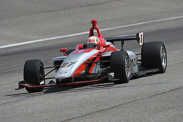 Indy Lights Nico Jamin termine les essais collectifs sur ovale en tête