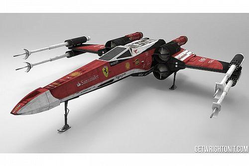 Los X-Wings de Star Wars, con los colores de la F1
