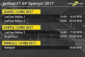 Jadwal lengkap F1 GP Spanyol 2017