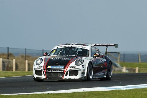 Holdsworth/Grant win frantic Carrera Cup Pro-Am race
