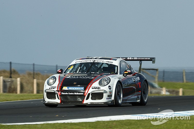 Holdsworth/Grant win frantic Carrera Cup Pro-Am race