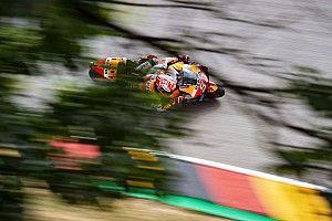 Márquez también lidera el warm up en Alemania