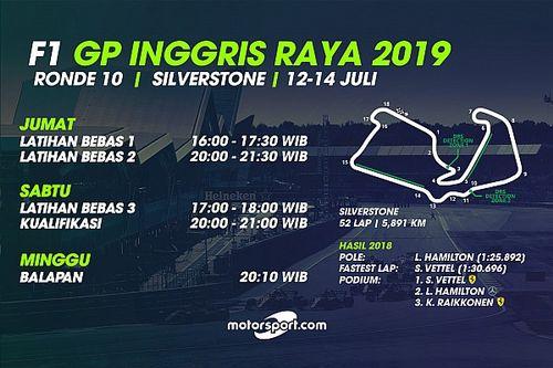 Jadwal lengkap F1 GP Inggris Raya 2019