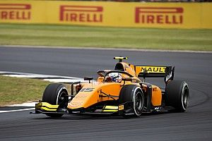 Silverstone F2: Aitken wins after audacious pass on Deletraz