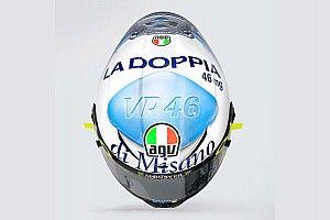 """MotoGP: Rossi faz alusão a Viagra em capacete e brinca: """"Não tive coragem de dizer para a minha mãe"""""""