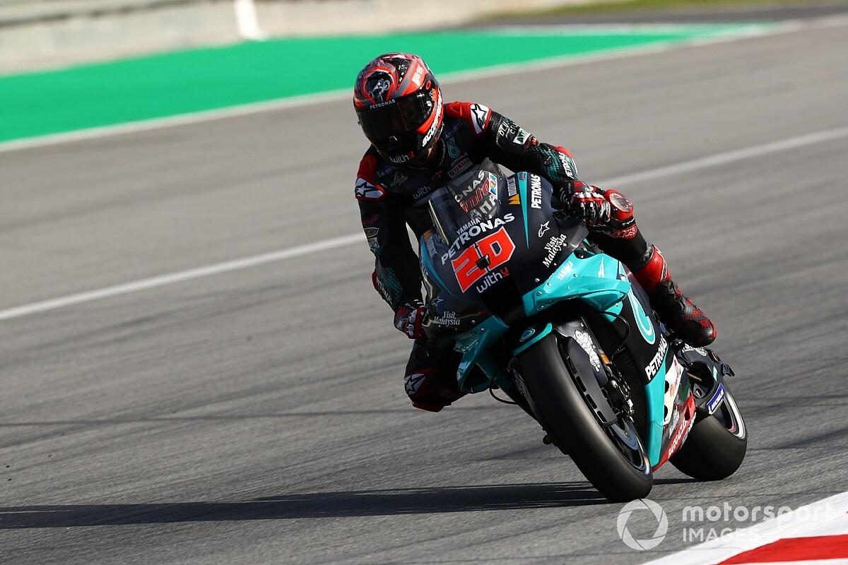 Quartararo ondanks crash aan kop in warm-up GP Catalonië