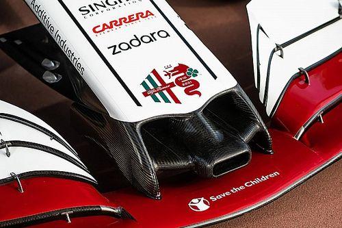 Alfa Romeo met speciale livery op Monza