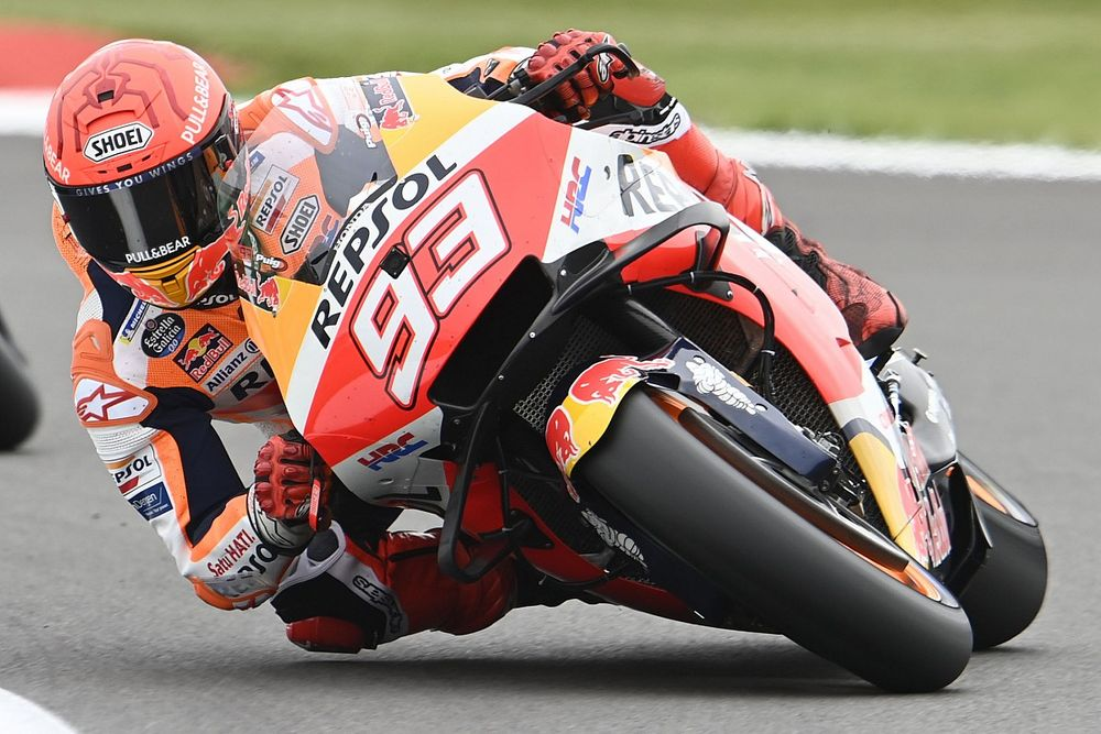 Marquez had to have eyes cleaned after massive Silverstone MotoGP crash