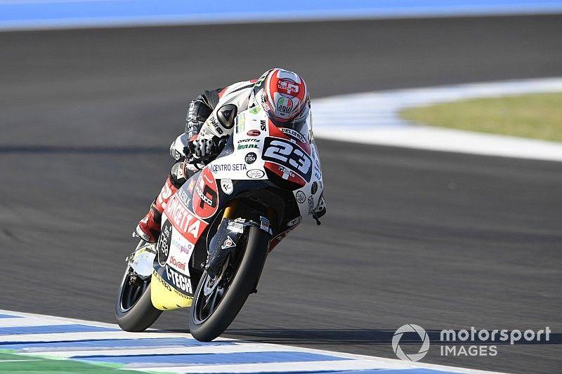 Jerez Moto3: Antonelli wins as Masia crashes