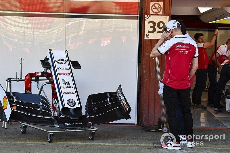 Alfa Romeo soluciona su problema con el alerón delantero