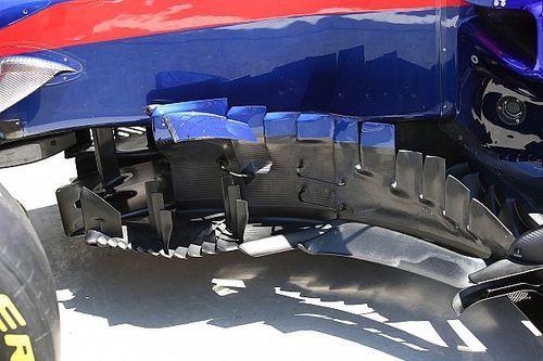 Toro Rosso: sei deviatori di vortice davanti alla... cresta da dinosauro