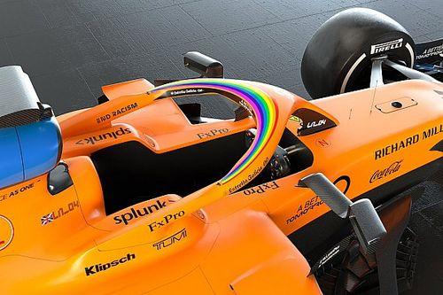 McLaren: un arcobaleno sulla MCL35 contro le ineguaglianze