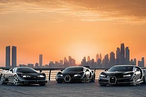 Tre generazioni di Bugatti si incontrano a Dubai