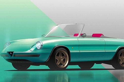 Így mutatna elektromos autóként az Alfa Romeo Spider