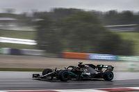 """Hamilton na pole in de regen: """"Het gierde door m'n keel"""""""