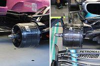 ¿Son iguales los ductos de frenos de Racing Point y Mercedes?
