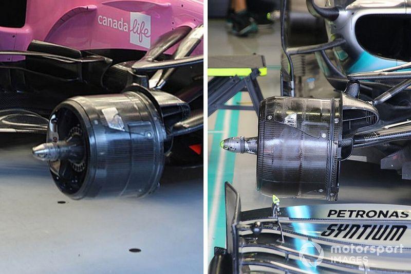 No detalhe: o que há de semelhante nos freios de Mercedes e Racing Point?