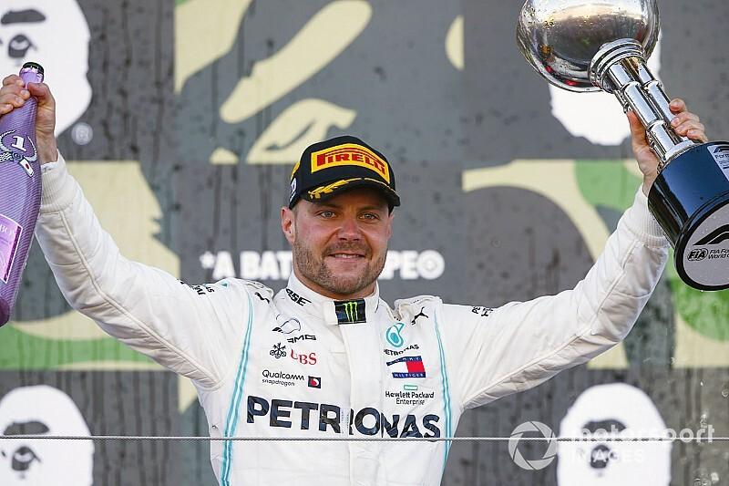 Bottas wint GP van Japan, vroege uitschakeling Verstappen