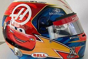 """Photos - Un casque spécial """"Cars"""" pour Grosjean à Austin"""